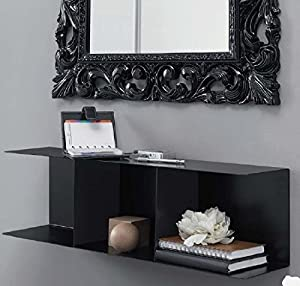 mensola per ingresso : Mensola nera in plexiglass da ingresso uso pensile Barby con divisori ...