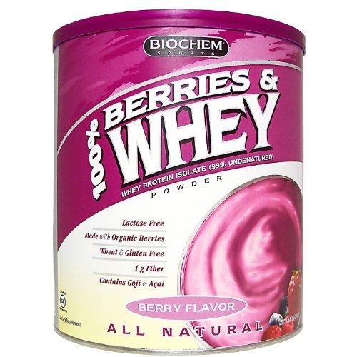 Biochem 100% Berries and Whey Powder, Berry, 1.39-Pound