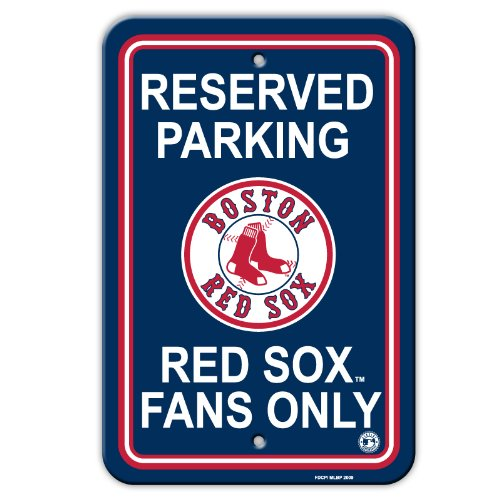 Boston Red Sox MLB Plastic Parking Signs