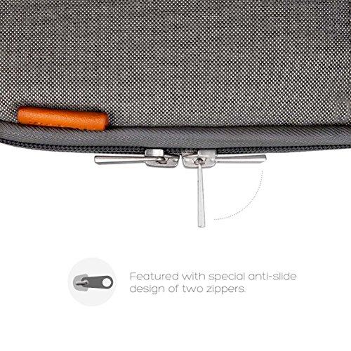"Inateck 15,4"" Macbook Pro Retina Sleeve Hülle 38,1-39,6 cm-Ultrabook Laptop Tasche Speziell für Apple Macbook pro 15,4 Zoll, Dunkelgrau"