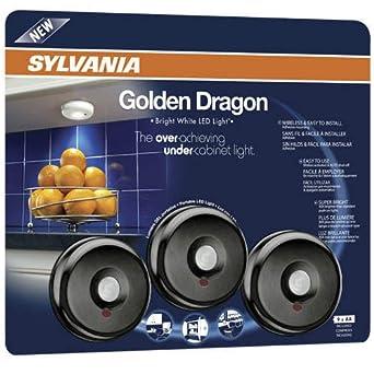 sylvania 72422 battery operated led under cabinet light with motion sensor function 3 pack. Black Bedroom Furniture Sets. Home Design Ideas