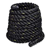1.5″x30′ Poly Undulation Battling Workout Rope Black