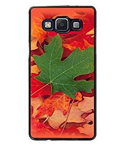 PrintDhaba Mapple Leaf D-4784 Back Case Cover for SAMSUNG GALAXY A5 (Multi-Coloured)