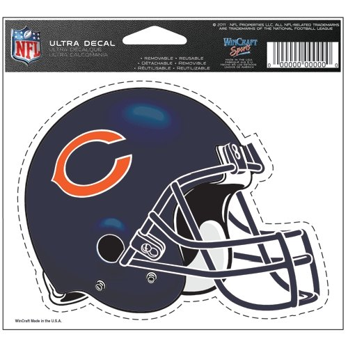 Chicago Bears Official Logo 4x6 Ultra Decal Window Cling (Football Clings compare prices)