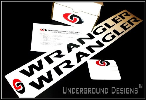 Wrangler Jeep Hood (Pair X2) Decal Kit Flat Black By Underground Designs