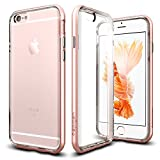 iPhone 6s Case, Spigen® [Neo Hybrid EX] PREMIUM BUMPER [Rose Gold] Clear TPU / PC Frame Slim Dual Layer Premium Case for iPhone 6 (2014) / 6s (2015) - Rose Gold (SGP11725)
