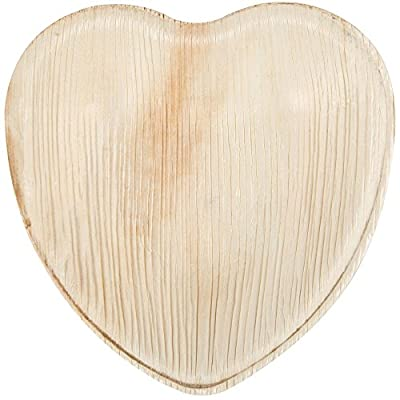 "Eco-Gecko 4"" HEART Palm Leaf plate / 200-ct case"