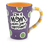 """Im A Mom, Whats Your SuperPower?"""" 12oz Coffee Mug Great Gift for Mother"""