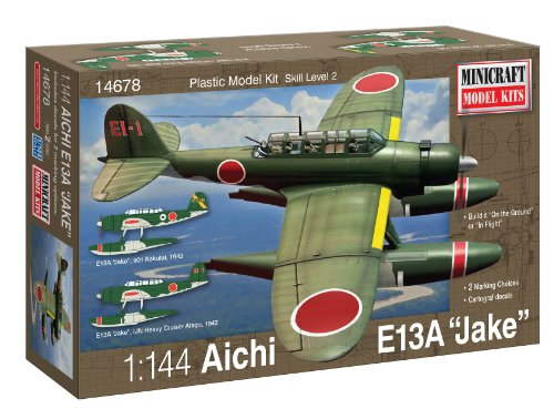 Minicraft Aichi Jake IJN with 3 Marking Options Model Kit, 1/144 Scale - 1