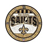New Orleans Saints 12 Inch Art Glass Clock