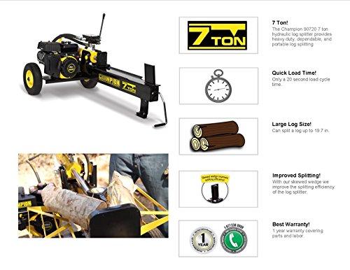 Champion Power Equipment No.90720 Gas Powered Log Splitter, 7-Ton