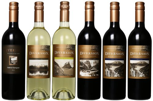 Diversion Washington Wine Tour Mixed Pack, 6 X 750 Ml