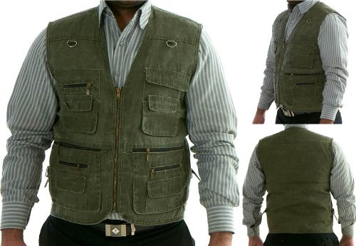 Mens Boys Body Warmer Waistcoat Safari Gilet Jacket For Fishing Hunting Hiking