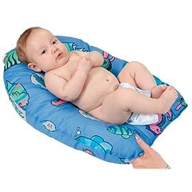 Leachco Safer Bather - Infant Bath Pad - Blue Fish