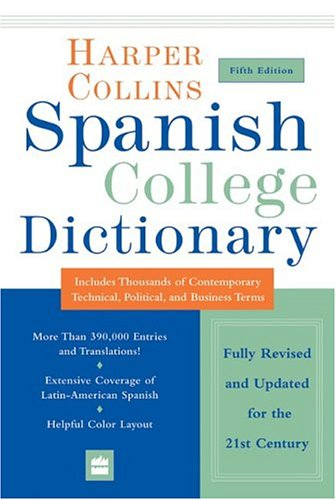 HarperCollins Spanish College Dictionary 5th Edition...