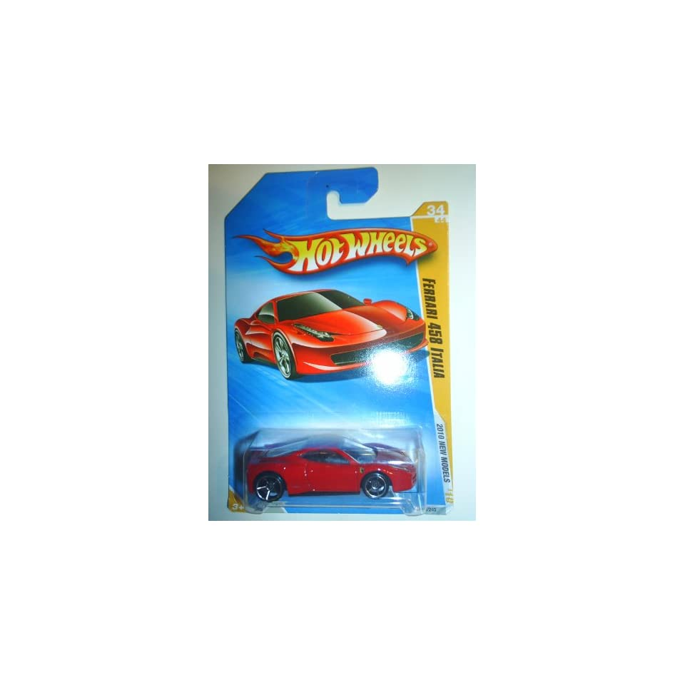 Hot Wheels 2010 Ferrari 458 Italia 034/240, 10 New Models 164 Scale Collectible Die Cast Car