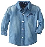 Tommy Hilfiger Baby-Boys Infant Jayden Denim Shirt, Flag Blue, 18 Months