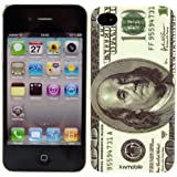 kwmobile® DOLLAR Hardcase für Apple iPhone 4 / 4S - inkl Clean Pad