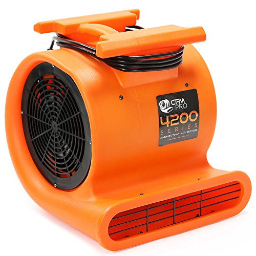 Car Air Blower To Dry : Cfm pro air mover carpet dryer blower fan hp