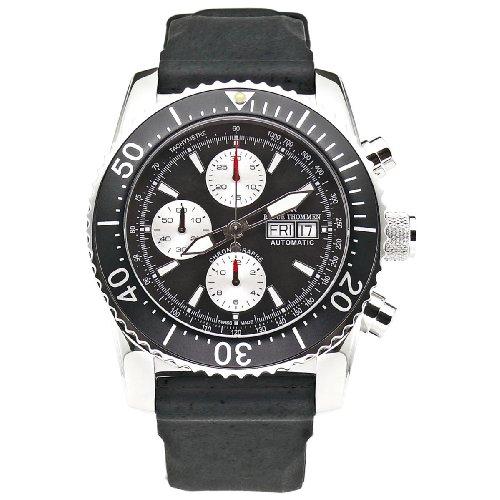 Revue Thommen Men's Automatic Watch Diver Professional Chronograph 17030.6537 with Rubber Strap