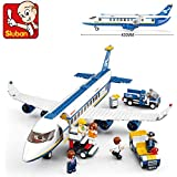 Sluban Building Block Plane City Airport Cargo Terminal B0366 463pcs 7dolls Compatible
