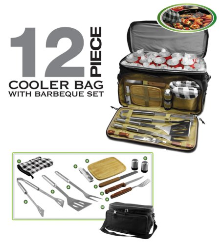 Finelife 12 Piece Cooler Bag with Bbq Set