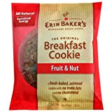 Erin Baker's Breakfast Cookies, Fruit & Nut, 3-Ounce Individually Wrapped Cookies (Pack of 12)