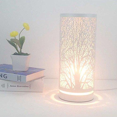 YMYG-Schmiedeeisen-wei-dekorative-Lampe-Lampe-schlichte-Leuchte-Bett-moderne-Schlafzimmer-Hhle-Hotel-Tischleuchte