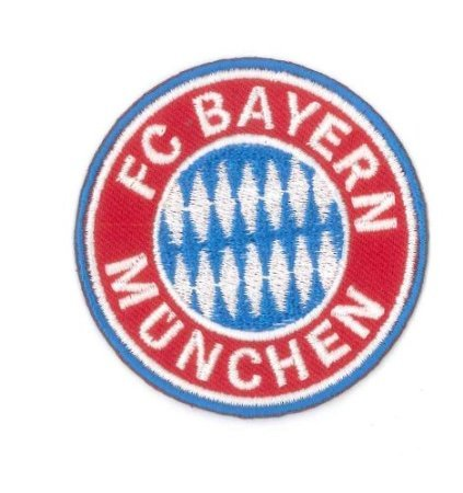 "Bayern Munich 3"" Iron on Football Patch - Bayern Munchen Embroidered Soccer Badge"