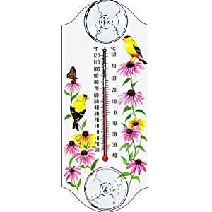 Aspects Goldfinch Window Thermometer