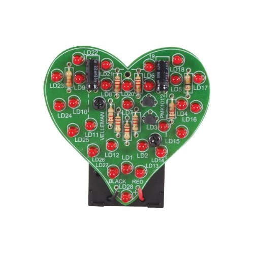 Velleman Flashing Led Sweetheart Heart Electronics Kit