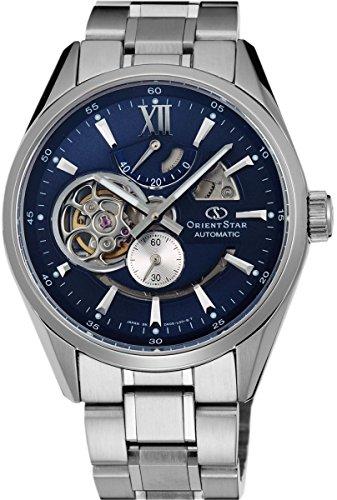 Orient star classic automatico aperto cuore moderno blu scheletro di riserva Orologio sdk05002d