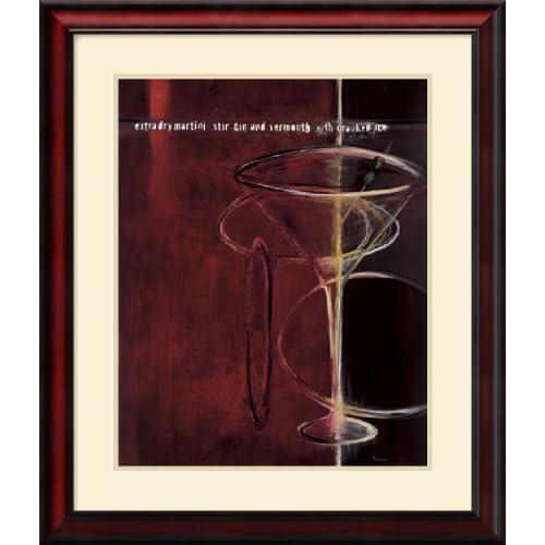 Dry Martini Framed Art Print Home & Kitchen