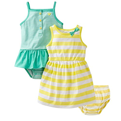 Carter'S Baby Girls' 2 Piece Sunsuit & Dress Set (Baby) - Yellow/Blue - Newborn front-135145
