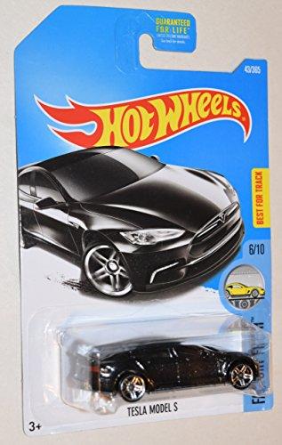 HOT WHEELS FACTORY FRESH 6/10 METAL FLAKE BLACK TESLA MODEL S 43/365 (Tesla Model S Model compare prices)