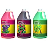 General Hydroponics Flora Grow, Bloom, Micro Combo Fertilizer, 1 gallon