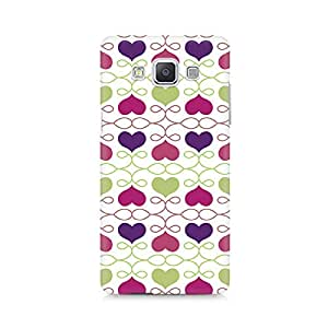 Mobicture Heart Pattern Premium Printed Case For Samsung A7