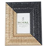 Royal Frames Photo Frame Synthetic Material(Gold&Black, 24 Cm * 29 Cm)