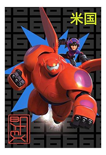 Big Hero 6 Go Robot Microraschel Blanket, 62x90