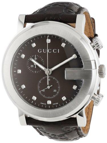 Gucci Men's YA101344 G-Chrono Guccissima Strap 11 Diamond Dial Watch
