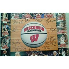 Wisconsin Badgers Mens Basketball 2013-14 Team Autographed 16x20 Photo