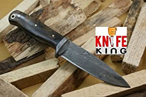 MASSIVE SALE Knife King Custom Damascus Handmade Hunting Knife. With Leather Sheath.... by Knife King