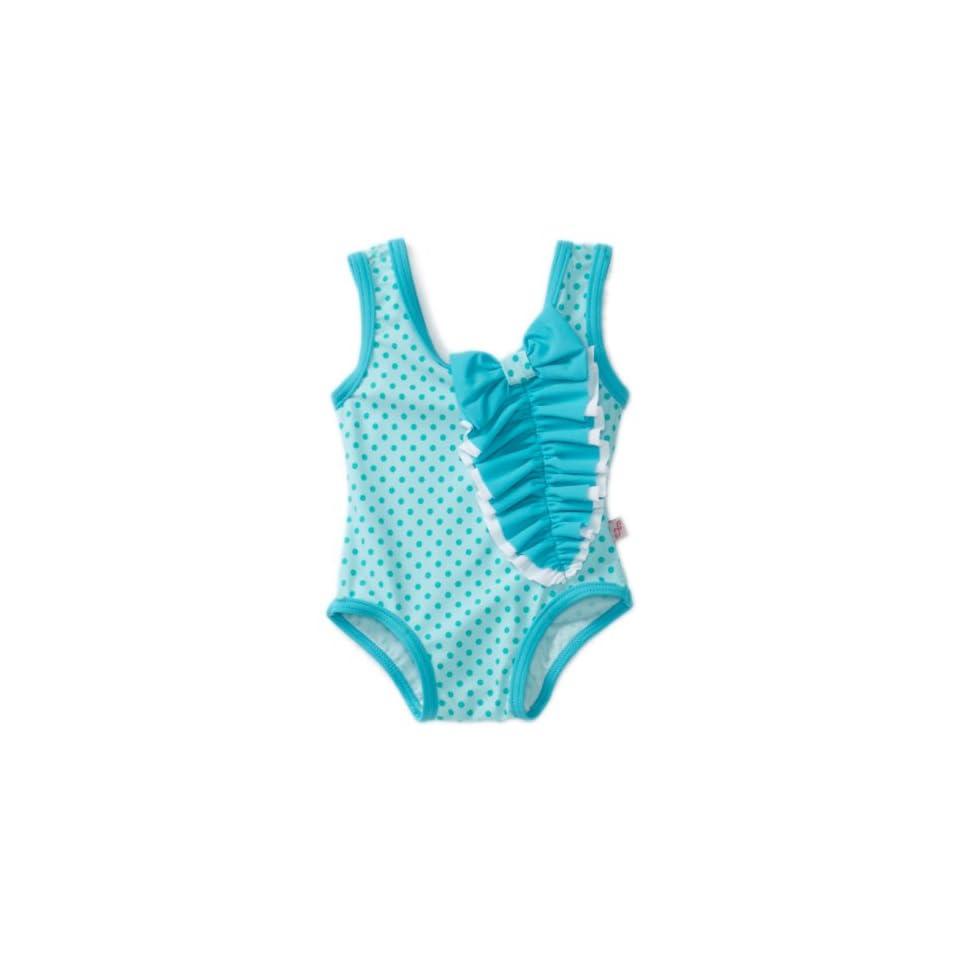 Floatimini Baby Girls Missy Vintage Polka Dot Swimwear, Blue, 12 18 Months