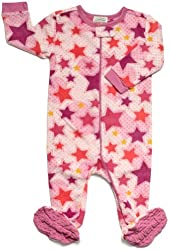 "Leveret Footed Fleece ""Stars Design"" Pajama Sleeper (Size 6M-5T)"