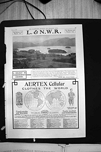 Stampa Antica della L & di Re Cellulare Edwards Derby 19O9 1910 di N W R Derwentwater Aertex