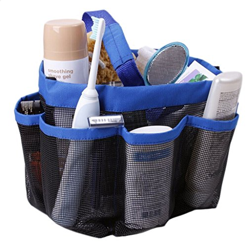 Quick Dry Hanging Toiletry and Bath Organizer with 8 Storage Compartments, Shower Tote, Shower Organizer, Mesh Shower Caddy, Bathroom Accessories, Bathrooms Bag, Perfect Dorm, Gym, Camp & Travel Tote Bag, Black wodison transparent clear hanging travel toiletry cosmetic organizer storage bag