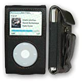 CrazyOnDigital Premium Black Leather Case Apple iPod Video/Classic. CrazyOnDigital Retail Package (Color: Black)