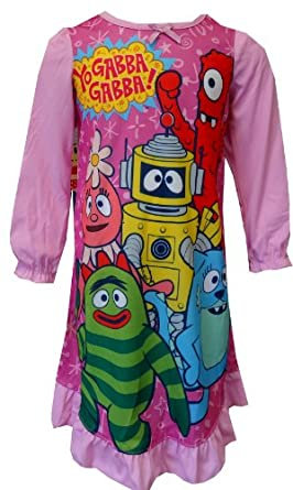 Nickelodeon Yo Gabba Gabba Characters Toddler Nightgown for girls (4T)