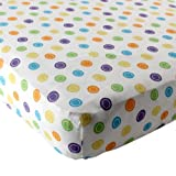 Luvable Friends Geometric Print Fitted Knit Crib Sheet, Yellow