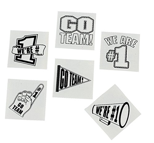 Go Team Tattoos - White (72 Pcs) Safe and Non-toxic. - 1